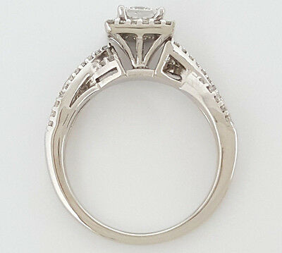 0.77 ct 14K White Gold Princess Cut Diamond Engagement Ring GIA G / VS2 7