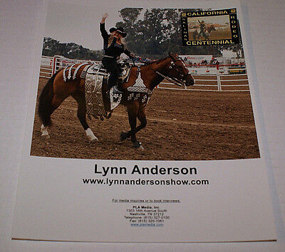 """LYNN ANDERSON #2 8"""" X 10""""  RARE PROMO PHOTO OUT OF PRINT HTF COUNTRY CELEBRITY"""