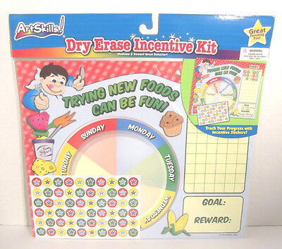 Dry Erase Incentive Chart Trying New Foods Can Be Fun Motivate Reward Behavior  - Incentive Chart