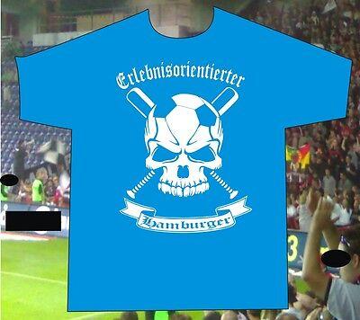 T-Shirt Erlebnisorientierter Hamburger Hamburg für alle Ultras Hooligans Rowdys