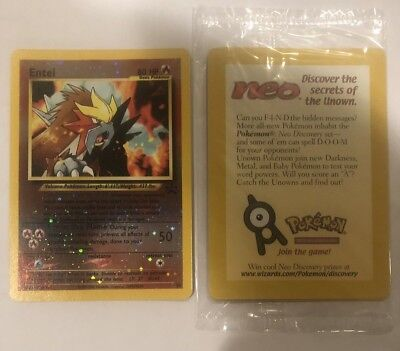 Pokemon Entei SEALED Movie Promo #34 Rev. Holo Card MINT from WOTC ULTRA RARE!!