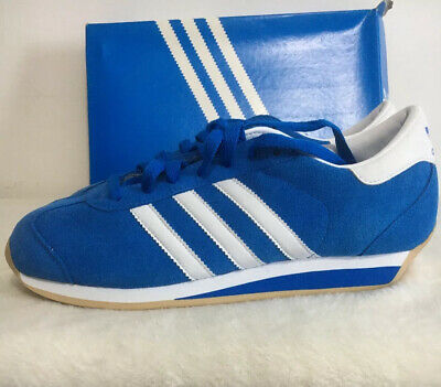 Adidas Country trainers Uk 8 Dead Stock 2011 ! Never Been Worn ! Bright Blue !