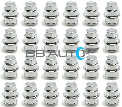 SET OF 24 SILVERADO AVALANCHE SIERRA EXPRESS VAN WHEEL CHROME LUG NUT COVERS NEW