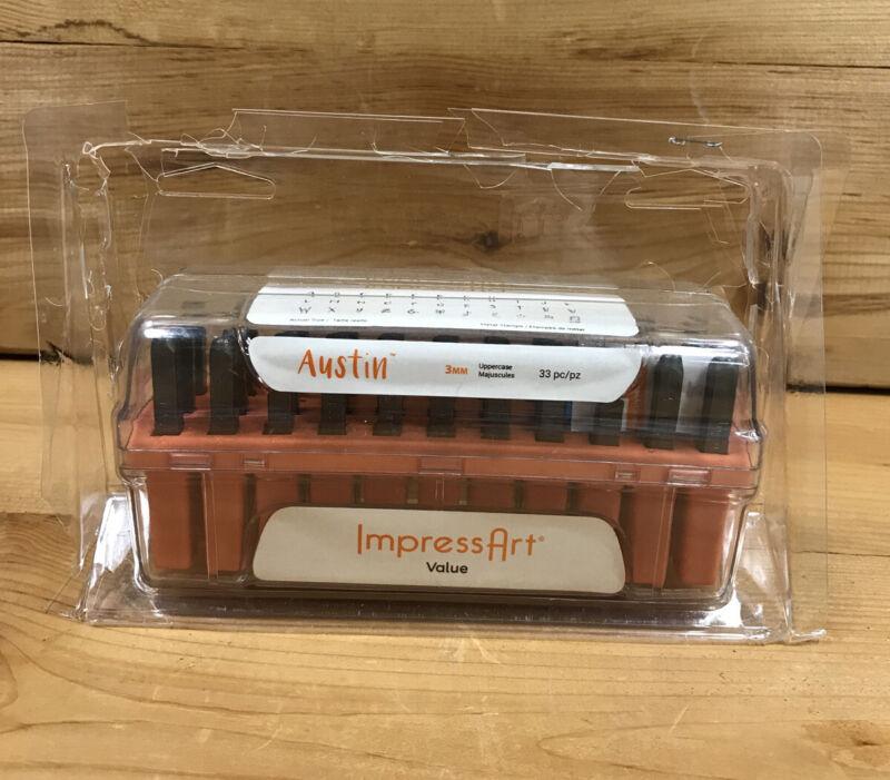 Impressart Austin Uppercase Letters Metal Stamp Set 3mm 33 pc