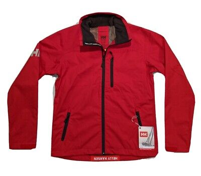 NWT Helly Hansen Tech Crew Jacket Sailing Waterproof Breathable Red Men's size S