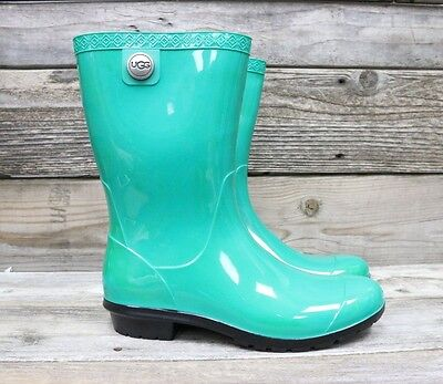 UGG Australia Womens Sienna Jazz Green Classic Rubber Rain Boots US 8 NEW for sale  Shipping to United Kingdom