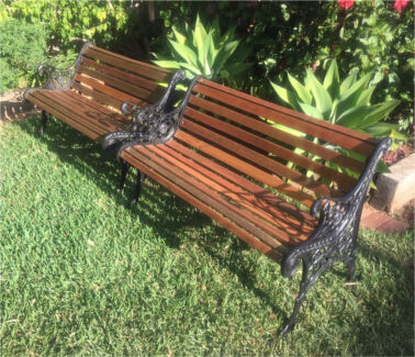 Cast Iron Garden Bench  Outdoor Dining Furniture  Gumtree