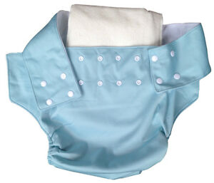 ADULT ADJUSTABLE REUSABLE WASHABLE INCONTINENCE PANTS PAD NAPPY DIAPER KNICKERS