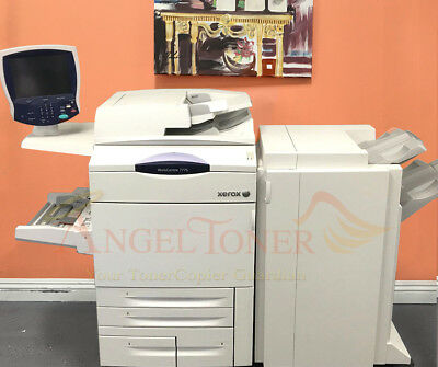Xerox Workcentre 7775 Color Printer Scanner Copier Finisher 75 Ppm Laser Tabloid