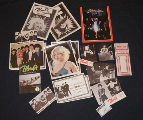 Official Blondie Fan Club Debbie Harry 22 items Collectors lot Deborah 1979