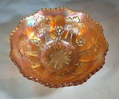 (FENTON CARNIVAL GLASS LITTLE FLOWERS MARIGOLD 5
