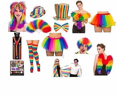 RAINBOW Gay Pride LGBT World Festival Party Carnival Feather Wings Fancy - World Kostüm Festival