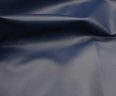 Navy Faux Leather - Vinyl Faux Leather Stretch Clothing 58