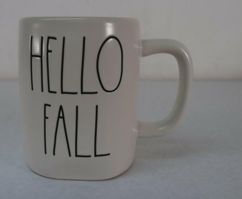 Rae Dunn LL Hello Fall Orange Interior Mug New