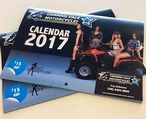 Canning Vale Motorcycles 2017 Calendar with Rowdy Promotion Girls Canning Vale Canning Area Preview
