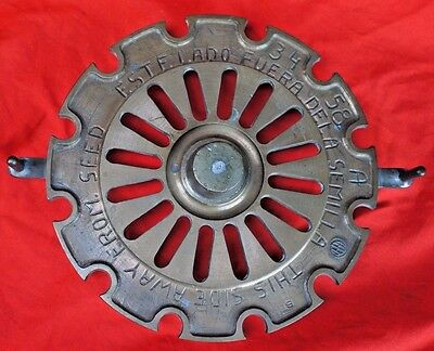 Rare Farmall Machined Solid Brass Casting Mold Pattern Prototype Seed Plate Ih