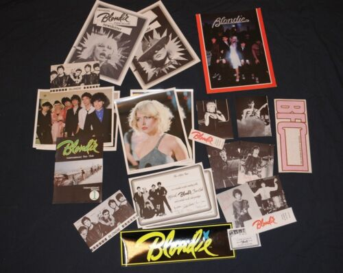 Official Blondie Fan Club merchandise Debbie Harry 23 items vintage lot