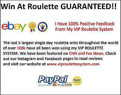 VIP Roulette System. Best Roulette Strategy on Ebay! Guaranteed (Best Casino Roulette Strategy)