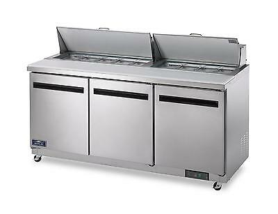 Arctic Air Ast72r 72 Stainless Steel Sandwich Salad Prep Cooler
