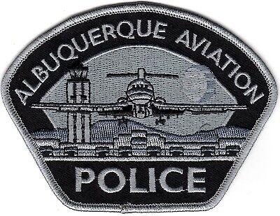 Albuquerque Police Aviation New Mexico silver & black patch NEW