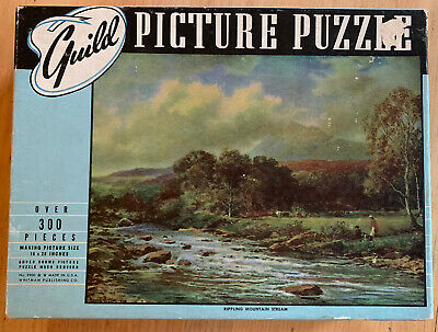 Vintage GUILD Picture Puzzle 300 Pieces Rippling Mountain Stream Fully Complete!