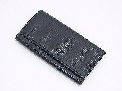 Authentic Louis Vuitton Epi Multicles 4 Keys Case Black
