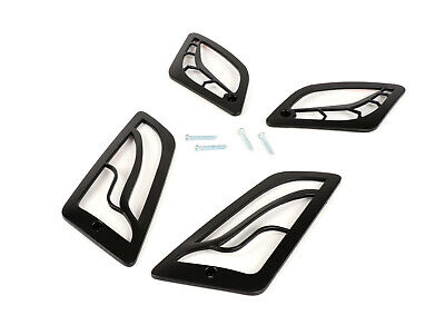 Vespa GTS GTV 125 250 300 Gloss Black Indicator Grill Covers Set - MOTO NOSTRA