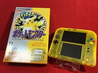 USED Nintendo 2DS Pokemon Pikachu Edition limited Pack F/S From Japan