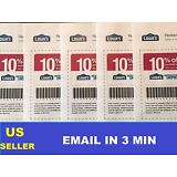 (5) FIVE Lowe's 10% Off Printable-Coupons - Exp 2/28/17 - Fast Email Delivery