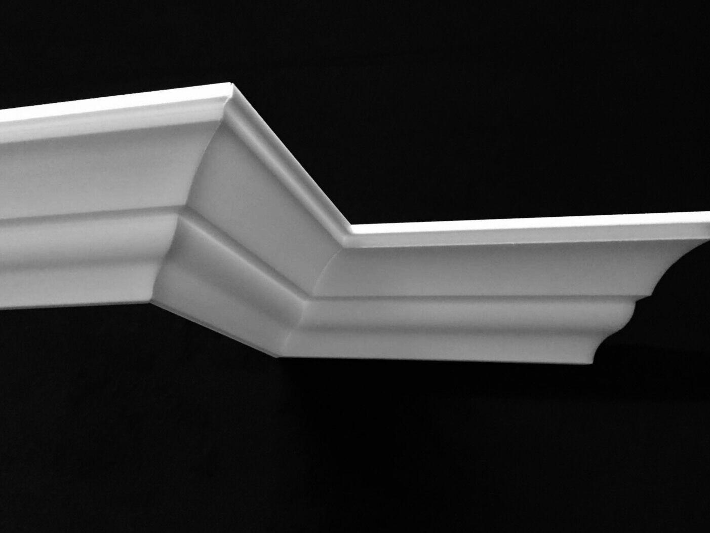 24 Meter + 4 Ecken Zierprofile Styropor Stuckleisten Zierleisten Stuck BK83
