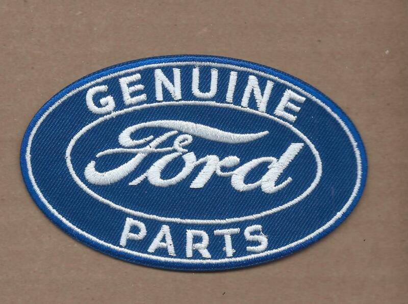 NEW 2 1/2 X 4 INCH GENUINE FORD PARTS IRON ON PATCH FREE SHIPPING