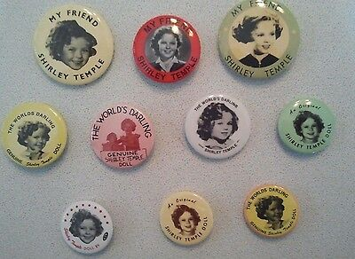 Lot of 10 Different Shirley Temple Pinback Buttons 💎Mint Cond💎 L👀K Fast Ship⚡