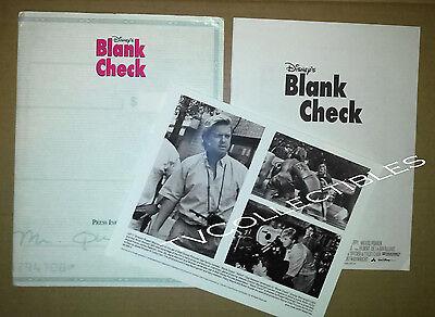 Presskit Blank Check  1994  Brian Bonsall  Karen Duffy  Rupert Wainwright