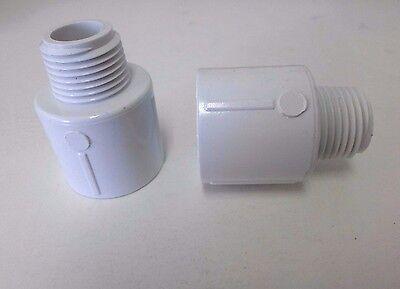 Lot Of 150 12 X 34 Sch 40 Pvc Reducing Male Adapter - Mipt X Socket 436-074