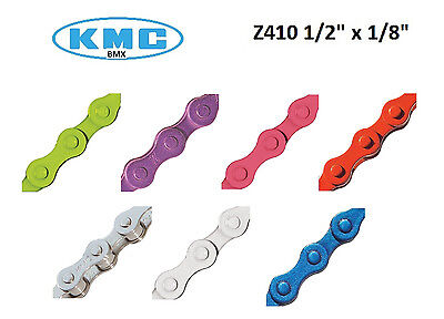 """KMC Chain Z410 1/8"""" x 1/2"""" Colored Bicycle Fixed Gear Fixie"""