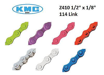 "KMC Chain Z410 1/8"" x 1/2"" Colored Bicycle BMX Bike Pedal Si"