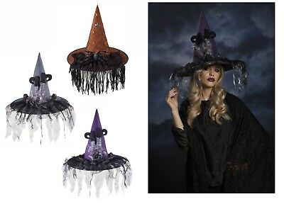 Ganz H8 Halloween Women's Costume Witch Hat 18x15in - Choose Design - Halloween Costumes Designs