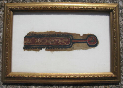 Antique Coptic Textile fragment Early Christian tapestry weaving 4th-7thC Egypt