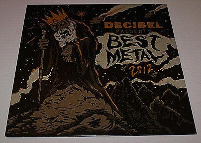 DECIBEL BEST METAL of 2012 Heavy Metal Promo LP Kreator Testament NEVER