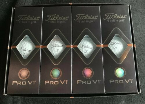Titleist Pro V1 Golf Balls, White, Standard Play Numbers , O