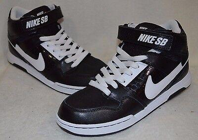 Nike Mogan Mid 2 Jr. Black/White Boy's Skate Shoes - Assorted Sizes NWOB - 2 Mid Skate Schuhe