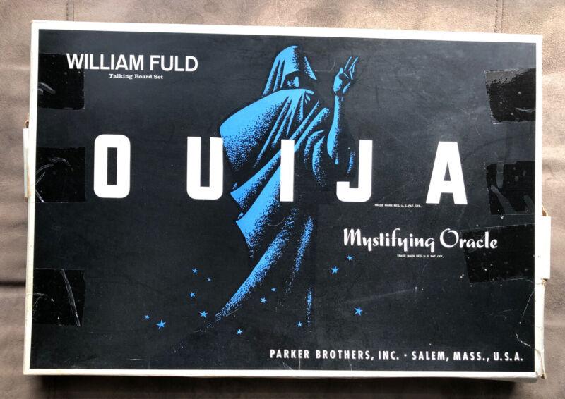 Vintage 1940s Wood Mystifying Oracle Ouija Board with Box William Fuld