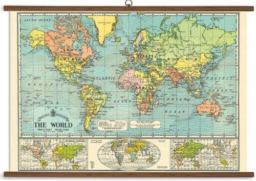 Cavallini Papers World Map Vintage School