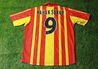 GALATASARAY # 9 HAKAN SUKUR 2000-2001 FOOTBALL SHIRT JERSEY HOME ADIDAS ORIGINAL image