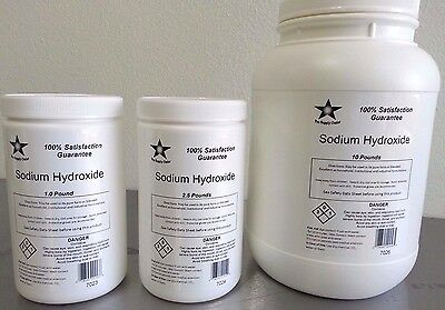 Sodium Hydroxide 98 Pure Micropearls 5 Lb Caustic Soda Lye Food Grade 7025