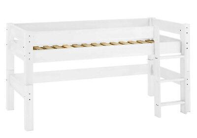 Halbhochbett Moby für Kinder 110 x 101 x 211 cm, weiß lackiert