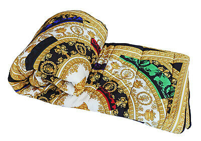 "Versace Baroque Medusa King Size Comforter - 102.36"" x 106.3"""