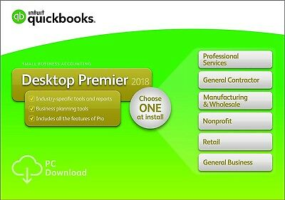 QuickBooks Desktop Premier 2018 1-User for sale  Shipping to South Africa