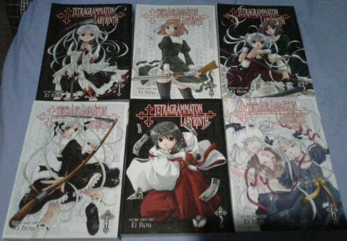 Manga lot - Tetragrammation Labyrinth volumes 1-6 COMPLETE Seven Seas yuri
