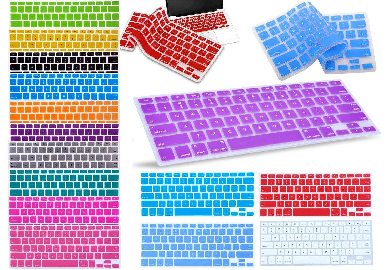 "Silicone Keyboard  Cover For Apple Macbook Pro Air 13"" 15"" 1"